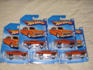 Hot Wheels Lot of 5 55 Chevy Bel Air