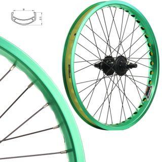 BMX Bike Wheels Wheelset Narrow Rims Green