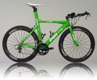 Time Trial Bike Carbon Wheels Grigio TT Pro2 Green 54cm