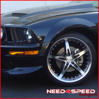20 Ford Mustang MRR GT 5 Black Staggered Rims Wheels