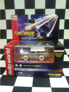 RARE Iwheels Flametthrowers 55 Chevy Nomad by Auto World Slot Car