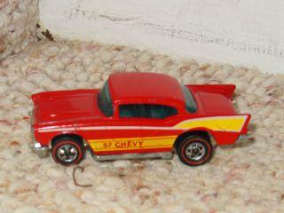 Old Hot Wheels Red Line 57 Chevy Diecast Car 1976 Mattel