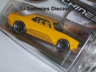 Hot Wheels G Machines 1 50 Yellow Black 68 Chevy Camaro