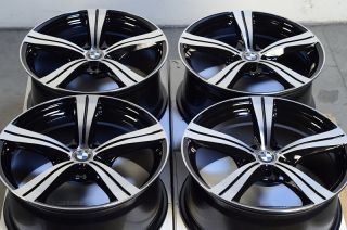 Polished Black Wheels BMW 323 325 335 128 135 330 318 Z3 Equinox Rims