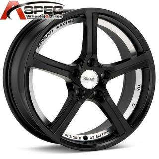 ANNIVERSARY 17X7 5 5X112 35 MATT BLACK RIM WHEEL FIT AUDI MERCEDES