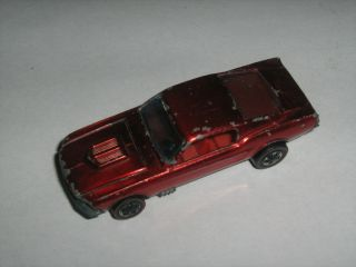 Redline Hot Wheels Vintage Custom Mustang Red 1967