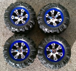 New Traxxas Summit VXL 1 16 Blue Wheels and Tires Rims