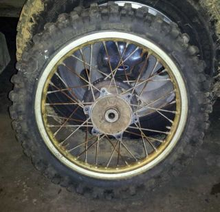 1985 Honda CR 125 Rear Wheel Rim Tire 18x1 85
