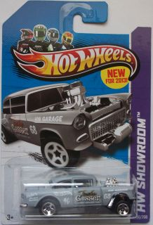 2013 Hot Wheels HW SHOWROOM 55 Chevy Bel Air Gasser 190/250 (Grey