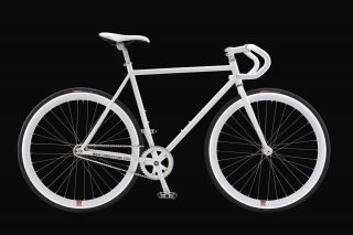 SPEED FIXED GEAR TRACK FIXIE ROAD BIKE WHITE FRAME WHITE RIM SIZE 59