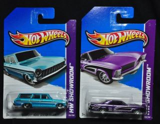 4933 Hot Wheels 2013 64 Chevy Nova Station Wagon 64 Buick Riviera