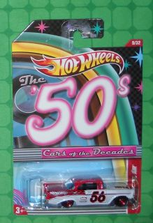 2011 Hot Wheels Cars of The Decades 9 50s 56 Chevy Bel Air