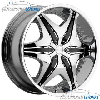 22x8 5 Akuza Chrome Wheels Rims inch Impala FWD 22