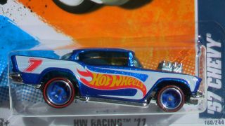 Hot Wheels Racing 57 Chevy Wheels Rubber Tires New RL