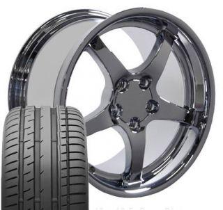 17x9 5 18x10 5 Chrome C5 Wheels Rims Tires Fit Camaro