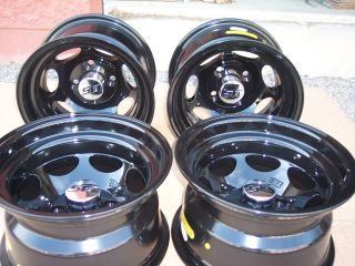 12 XB40 Black Golf Cart NASCAR Style 23 Tire Wheel Kit 23x10 50 12