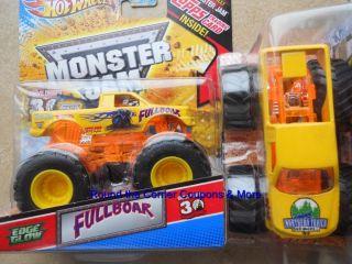 Wheels Monster Jam Full Boar Fullboar Edge Glow New Truck 1 64