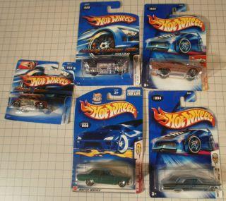 Hot Wheels Morris Cooper (2)64 Impalas Ford Thunderbolt 70 Challenger