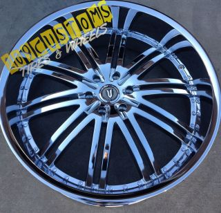 22 INCH VERSANTE RIMS WHEELS TIRES VW212 CHROME CADILLAC STS 2006 2007