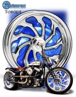 Performance Machine Torque Chrome Motorcycle Wheels Harley Streetglide