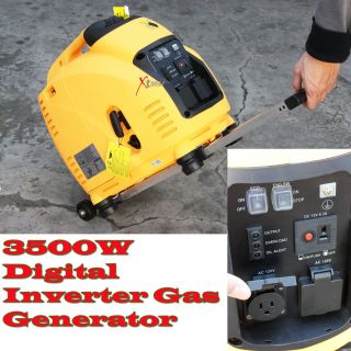 Digital Inverter RV Trailer Gas Generator w Wheels 3500WATTS
