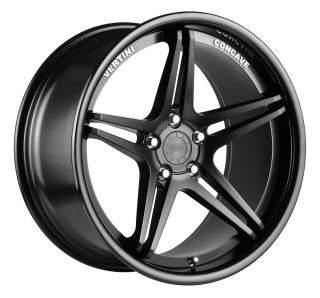 20 Vertini Monaco Black Rims Wheels BMW 528 E60 645LI 650LI E63 745LI