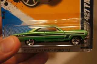 Hot Wheels 2012 Super Treasure Hunt 66 Ford 427 Fairlane Package Error