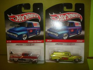 HOT WHEELS DELIVERY SERIES HOLLEY CUSTOM 62 CHEVY AND TRW 8 CRATE