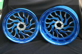 Suzuki GSXR Hayabusa 240 Wheels Nightmare Design Powder Coated Candy