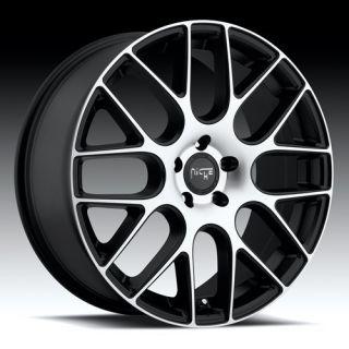 19 inch Niche Circuit Black Wheels Rims 5x120 35 TL RL MDX cts GTO G8