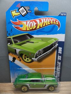 2012 HOT WHEELS 1/64 MUSCLE MANIA GM 1967 CHEVY CHEVELLE SS 396 # 110