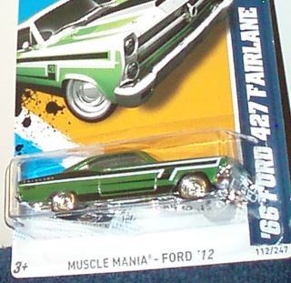 Hot Wheels 2012 66 Ford 427 Fairlane Super Secret Treasure Hunt New