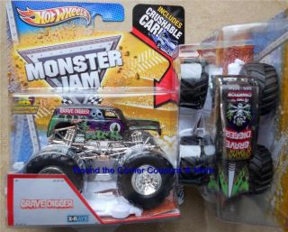 DIGGER X RAYS 4X CHAMP Hot Wheels Monster Jam 1 64 truck CRUSH CAR