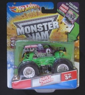 Hot Wheels Monster Jam Grave Digger 30th Anniversary Poster 1 64
