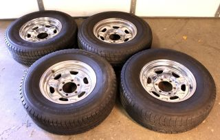 Toyota FJ40 FJ60 FJ62 Chrome Wheels ProDigy H T Tires P235 75R15 15x5