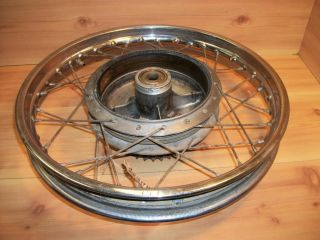 1961 68 Honda CB77 CB 77 Super Hawk 305 Rear Wheel Rim Hub Brake Drum