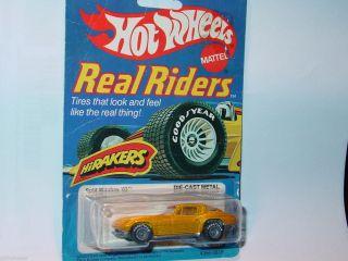 Hot Wheels 1982 Real Riders Split Window 63 Corvette Yellow Nice