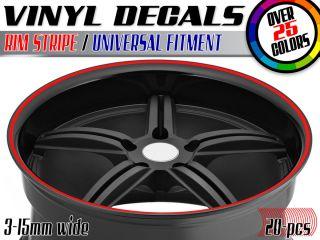 Car Rim Stripe Wheel Vinyl Decal Tape Sticker Automobile Truck