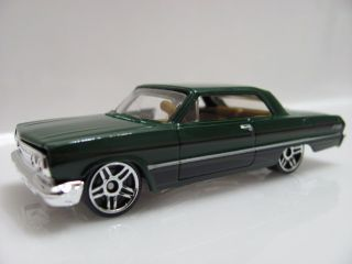 Hot Wheels 5 Pack 2011 63 Chevy Impala Green Loose