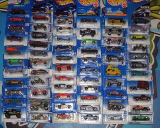Hot Wheels Lot of 66 Hot Wheels Blue Cards FE Series etc 90 s Up
