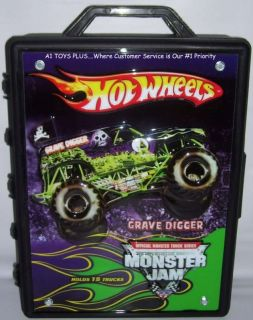 Hot Wheels Monster Jam 1 64 15 Truck Carrying Case