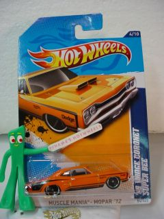 NEW 2012 Hot Wheels 69 DODGE CORONET SUPER BEE #84/24 7★Orange