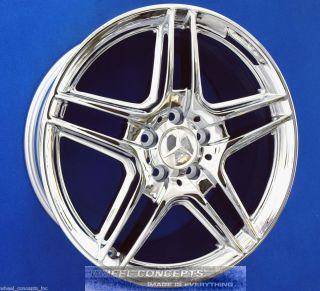 E550 Sedan 18 inch AMG Chrome Wheel Exchange E 350 550 18 Rims
