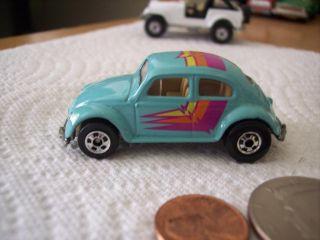 1988 Hot Wheels Volkswagen Beetle Bug Car 7671 65 VW Blue w Tampos