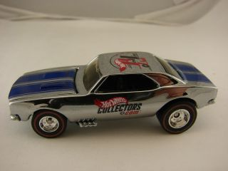 Hot Wheels 67 Camaro RLC Blue Stripe Redline Real Riders