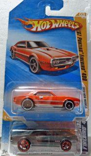 Hot Wheels 67 Pontiac Firebird 400 Diecast Car Lot of 2 Color