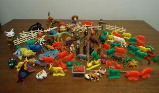 PieceToy Lot Dinosaurs Farm Animals Hot Wheels Horses Donkey Kong More