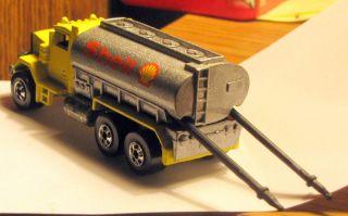 Vintage Hot Wheels Yellow Peterbilt Shell Oil Tanker manufactured 1979