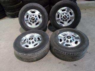 Factory 17 Chevy 2500 3500 Aluminum Wheels 8x180 and Bridestone 265