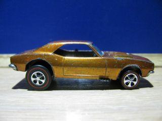 Hot Wheels Redline 67 Custom Camaro Orange Copper